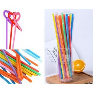 Stocks-Curved Disposable PP Straw